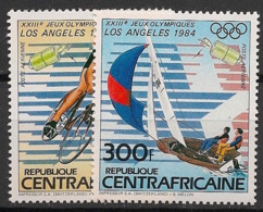 Centrafricaine - 1983 - Poste Aérienne PA N°Yv. 291 à 292 - Olympics Los Angeles 84 - Neuf Luxe ** / MNH / Postfrisch - Zentralafrik. Republik
