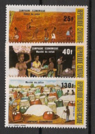 Centrafricaine - 1984 - N°Yv. 646 à 648 - Coton - Neuf Luxe ** / MNH / Postfrisch - Centraal-Afrikaanse Republiek