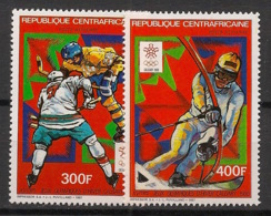Centrafricaine - 1987 - Poste Aérienne PA N°Yv. 367 à 368 - Olympics Calgary 88 - Neuf Luxe ** / MNH / Postfrisch - República Centroafricana