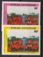Centrafricaine - 1987 - N°Yv. 777 à 778 - Intégration Des Pygmées - Neuf Luxe ** / MNH / Postfrisch - Centraal-Afrikaanse Republiek