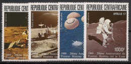Centrafricaine - 1989 - Poste Aérienne PA N°Yv. 383 à 386 - Homme Sur La Lune - Neuf Luxe ** / MNH / Postfrisch - Afrika