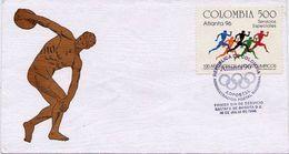 Lote 2031F, Colombia, 1996, SPD - FDC, Atlanta, Juegos Olimpicos, Olympic Games - Colombia