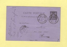 Daguin - Rouen St Sever - 10 Sept 1886 - Type Sage - Poststempel (Briefe)