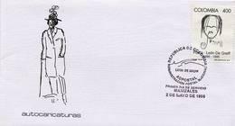 Lote 2015F, Colombia, 1996, SPD-FDC, Leon De Greiff, Poet, Caricature - Colombia