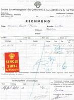 Facture Société Luxembourgeoise De Carburants (SINGLE Schell)1936 - Service