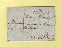 Livourne -113 - 1809 - Destination Paris - Departement Conquis De La Mediterranee - 1792-1815: Conquered Departments