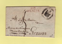 Pescia - 113 - 1813 - Mairie De Monte Canini - Departement Conquis De La Mediterranee - 1792-1815: Conquered Departments