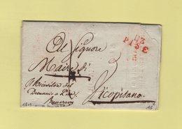 Pise - 113 - 1809 - Marque D Arrivee Decembre - Departement Conquis De La Mediterranee - 1792-1815: Conquered Departments