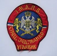 "1991-1995 Bosnian War - Serbian Paramilitary SPECIAL UNIT ""MANDO"" - Sleeve Patch - Stoffabzeichen"