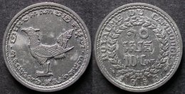 CAMBODGE 10 CENT 1953 Royaume INDOCHINE FRANCAISE / CAMBODIA / INDOCHINA PORT OFFERT - Colonias