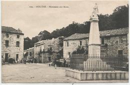 CORSE CPA  AULLENE - Monument Aux Morts - Animée - Très Bon état - France