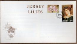 1986 Jersey Lilies Set FDC - Jersey