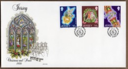 1986 Christmas Peace Year Set FDC - Jersey