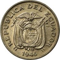 Monnaie, Équateur, 5 Centavos, Cinco, 1946, TTB, Copper-nickel, KM:75b - Ecuador
