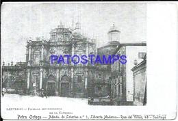 111904 SPAIN ESPAÑA SANTIAGO DE COMPOSTELA FACHADA SEPTENTRIONAL BREAK POSTAL POSTCARD - Spanje