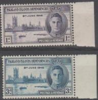 FALKLAND ISLANDS DEPENDENCIES - 1946 Peace.  MNH ** - Falklandeilanden
