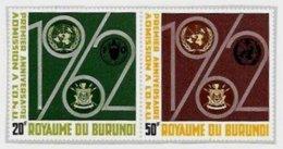 BURUNDI, Freedom From Hunger, Yv 67-68, ** MNH, F/VF, Cat. € 3 - 1962-69: Neufs