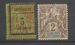Guadeloupe  Poste N° 3  Et  28   Neufs *   B/TB    ..........soldé à Moins De 20 %  ! ! ! - Guadeloupe (1884-1947)