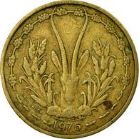 Monnaie, West African States, 25 Francs, 1976, TTB, Aluminum-Bronze, KM:5 - Côte-d'Ivoire