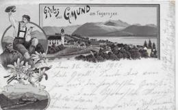 AK 0233  Gruss Aus Gmund Am Tegernsee - Lithographie Um 1901 - Tegernsee