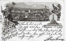 AK 0233  Gruss Aus Traunstein - Lithographie Um 1897 - Traunstein