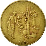 Monnaie, West African States, 10 Francs, 1991, TTB, Aluminum-Bronze, KM:10 - Côte-d'Ivoire