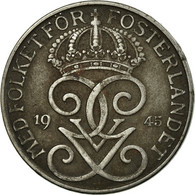 Monnaie, Suède, Gustaf V, 5 Öre, 1945, TB, Iron, KM:812 - Suède