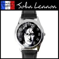 Montre à Quartz NEUVE Bracelet Cuir ! ( Watch ) - John Lennon The Beatles - Watches: Modern