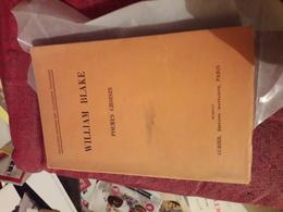 William Blake Poemes Choisis Ed Aubier - Poésie