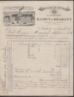 """Facture - Moulin De L'Etoile """"Ramet & Brabant, Fariniers"""" - Namur 15 Novembre 1886 - Food"""