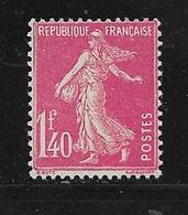 France Type Semeuse Camée N°196 1f40 Rose Neuf ** Cote 50€ - 1906-38 Semeuse Camée