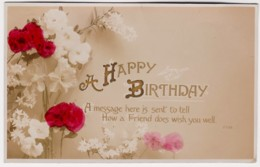 A Happy Birthday Vintage Floral PC With Message - Birthday