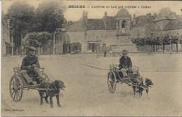 Briare. L'Arrivée Du Lait Par Voitures à Chiens.(Edition Bodineau). - Briare