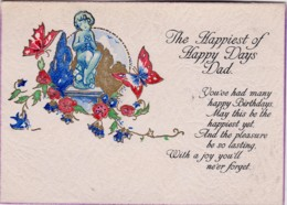The Happiest Of Days, Dad Birthday Vintage PC With Message - Birthday