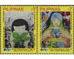 Ref. 278257 * MNH * - PHILIPPINES. 2010. INTERNATIONAL YEAR OF BIODIVERSITY . AÑO INTERNACIONAL DE LA BIODIVERSIDAD - Protección Del Medio Ambiente Y Del Clima