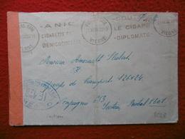 CENSURE SUR LETTRE FRANCHISE MILITAIRE FLAMME POITIERS 1939 - Marcophilie (Lettres)