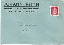 Ettelbruck - Brief Johann Feith, Rinde- & Holzhandlung Nach Wiltz, Staatliches Forstamt 16-07-1944 - Luxemburg
