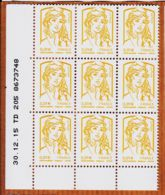 Tb035 Coin Daté 30/12/2015 MARIANNE CATELIN Y&T N° 4763 ** CIAPPA KAWENA (9)x 0.01 € - TD 205 8673748 - Coins Datés