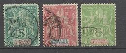 Guadeloupe  Poste   N°  30;  40 Et 41  Oblitérés   B/TB        ..........soldé à  Moins De 20 %  ! ! - Used Stamps