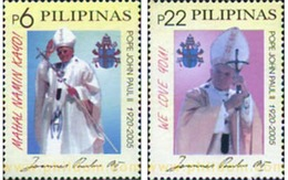 Ref. 314061 * MNH * - PHILIPPINES. 2005. POPE JOHN PAUL I . PAPA JUAN PABLO II - Filipinas