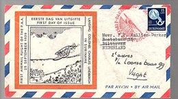 1954 Airmail Scarce FDC E1 (169) - Suriname ... - 1975