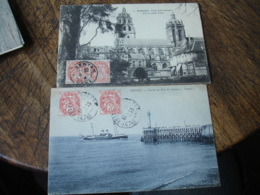 Lot De 2 Carte Affranchissement 2 Timbres  Blanc 3 C - Postmark Collection (Covers)