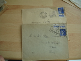 Lot De 2 Timbre Carnet Publicite Byrrh  Publicitaire Sur Lettre - 1921-1960: Période Moderne