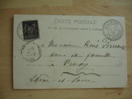 1901 Beaumont 31 Cachet Perle Facteur Boitier Obliteration Sur Lettre - Postmark Collection (Covers)