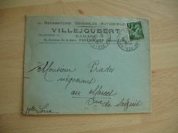 Paulhaguet 43 Villejoubert Reparation Automobile  Enveloppe Commerciale - France
