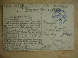 Vitre 106 Eme Regiment Infanterie Cachet Franchise Postale Guerre 14.18 - Marcophilie (Lettres)