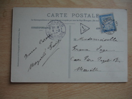 1907 Lettre Taxee 5 C Chiffre Taxe Timbre Duval Obliteration Marseille - Marcophilie (Lettres)