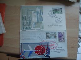 """Lot De 6  Lettre Aviation 1 Er Vol Caravelle Air France"""" Tout En Photo - Postmark Collection (Covers)"""