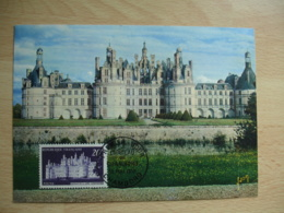 Chateau Chambord  1952 C M Carte Maximum - Cartes-Maximum