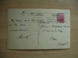 1933 Olympics Games Jeux Olympiques Wien Spendet Fus Den Osterreichischen Olympia Fonds Flamme - Lettres & Documents